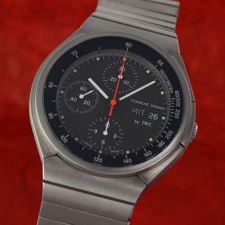 Iwc Schaffhausen Porsche Design Chronograph Automatik Titan Ref 3702 Bild