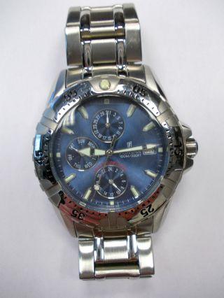 Festina Multifunktion F16059 Blau / Silber Uhr Herrenuhr Edelstahl Armbanduhr Bild