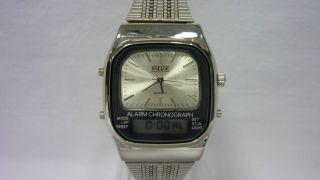 Herrenarmbanduhr Bugor Alarm Chronograph 80er Jahre Bild