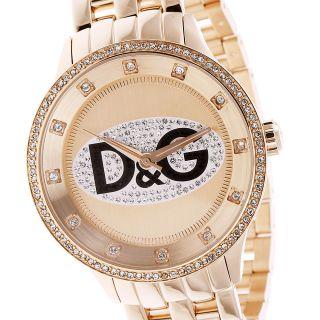 D&g Dolce Gabbana Damenuhr Rosé Vergoldet Unisex Armbanduhr Xl Dw0847 Bild