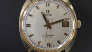 Omega Seamaster Cosmic Doublè Herren Armbanduhr,  Datumsanzeige,  Vergoldet Bild