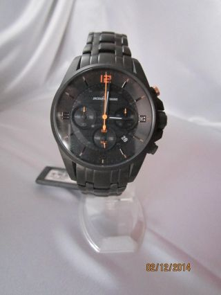 Jacques Lemans Herren - Armbanduhr Xl Sport Chronograph Quarz Edelstahl Beschichte Bild