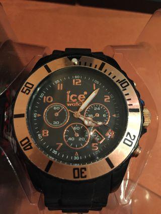 Ice Watch Armbanduhr Schwarz/kupfer. Bild