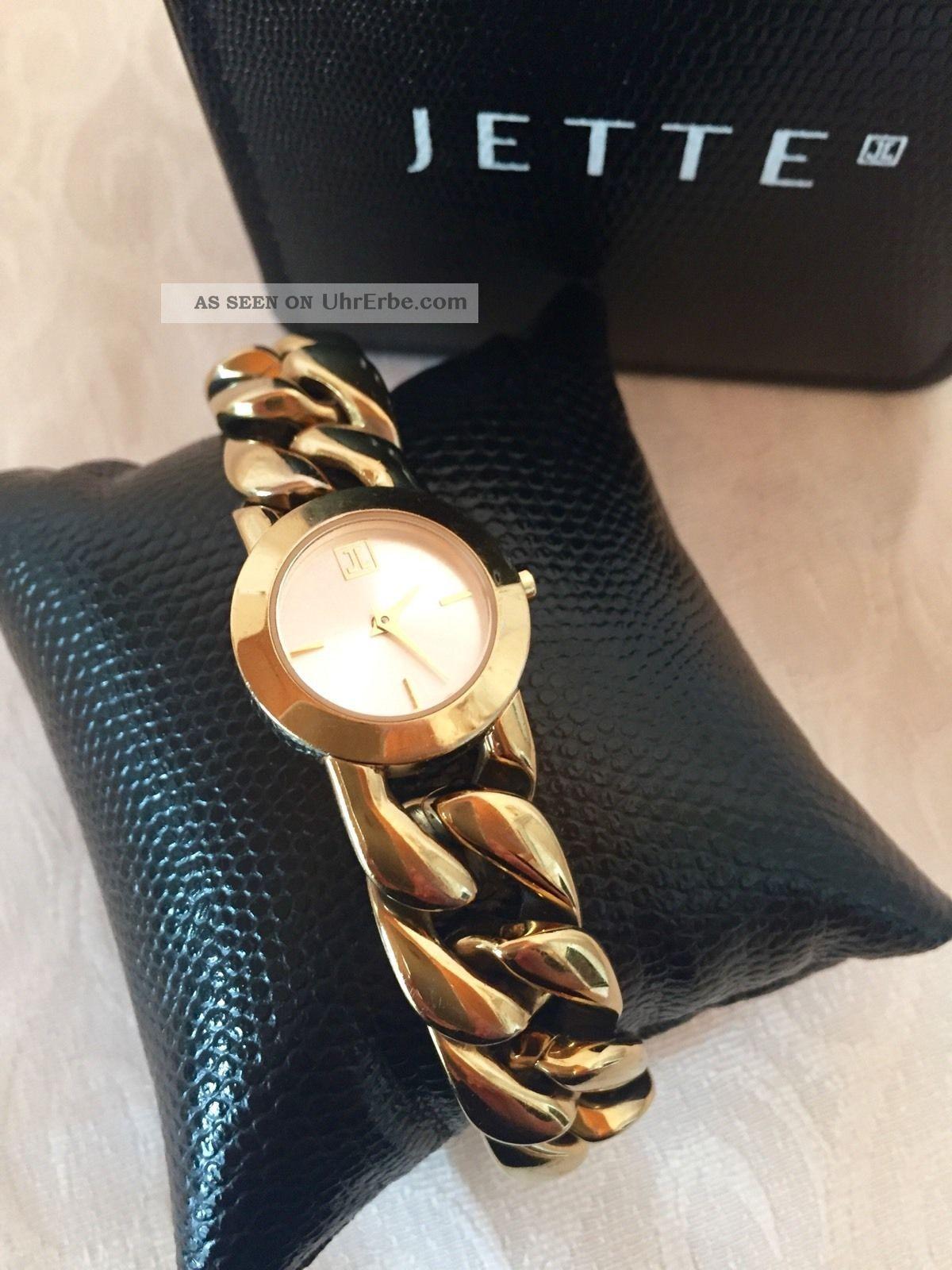 jette joop damenuhr in gold armbanduhr mit zertifikat. Black Bedroom Furniture Sets. Home Design Ideas