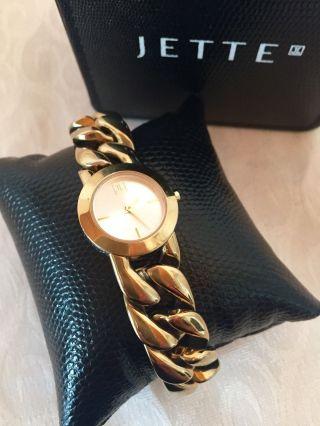 Jette Joop Damenuhr In Gold - Armbanduhr Mit Zertifikat,  Rechnung,  Originalbox Bild