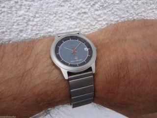 Kleine Pwc Herren - Armbanduhr 272 Flache Quarzuhr Edelstahl - Armband,  Box Bild
