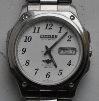 Citizen Automatic 100 Wr 21 Jewels Herrenuhr Serial Nr: 770644 Hau Uhr Geht Bild