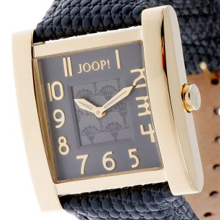 Joop Damenuhr Jp100602f02 Edelstahl Gold Leder Grau, Bild