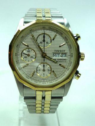 Tissot Chronograph Pr100 Automatik Stahl/gold/papiere Bild