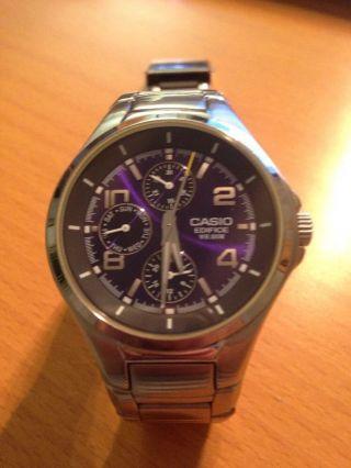 Casio Uhr Edifice Herren Edelstahl Armbanduhr Ef - 316d - 1avef Bild