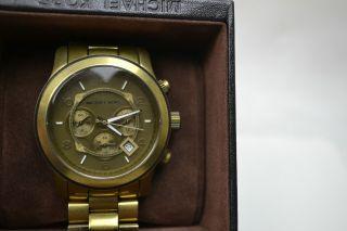 Michael Kors Herren Runway Bronze Chronograph Watch Mk 8227 Uhr Bild