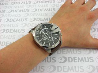 Diesel Braun Leder Chronograph Übergröße Herren Uhr Dz4290 Bild
