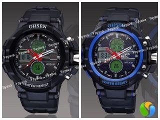 Yayava Led Herren Sport Uhr Herrenuhr Armbanduhr Digital Analog Datum Bild