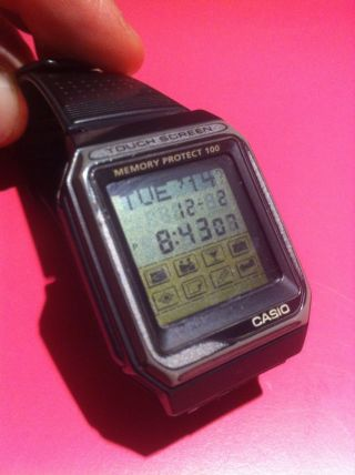 Lcd Uhr Vintage Casio Memory Protect 100 Touch Screen 1553 Vdb - 101 Bild