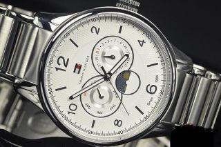 Tommy Hilfiger Weston Multifunktions - Herrenuhr Mondphasen Uhren Silber Bild