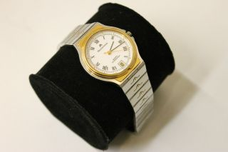 Maurice Lacroix Classic Chronometer Quarz Ref.  19796 Stahl / Gold Mit Revision Bild