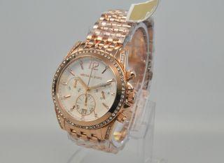 Michael Kors Mk5836 Damenuhr Armbanduhr Chronograph Edelstahl,  Rose Bild