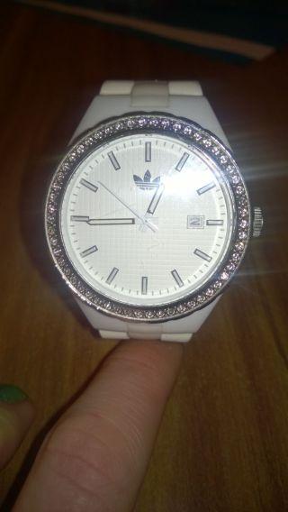 Adidas Armbanduhr Weiß/cremefarben Bild