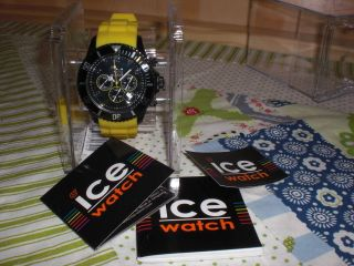 Ice Watch Uhr - Ice Chrono - Black Yellow - Sili - Big - Ch.  By.  B.  S.  10 Bild
