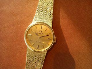 Omega De Ville 18k/ 750 Gold Gelbgold Damenuhr Lady Vintage Bild