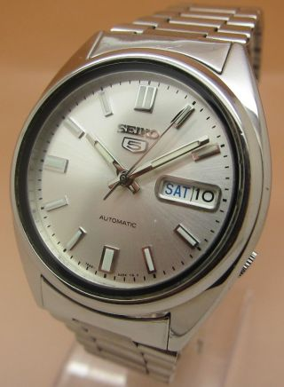 Seiko 5 Durchsichtig Automatik Uhr 7s26 - 0480 21 Jewels Datum & Taganzeige Bild