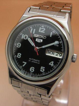Seiko 5 Durchsichtig Automatik Uhr 7s26 - 0450 21 Jewels Datum&tag Bild
