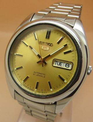 Seiko 5 7s26 - 0560 Glasboden Automatik Uhr 21 Jewels Datum & Taganzeige Bild
