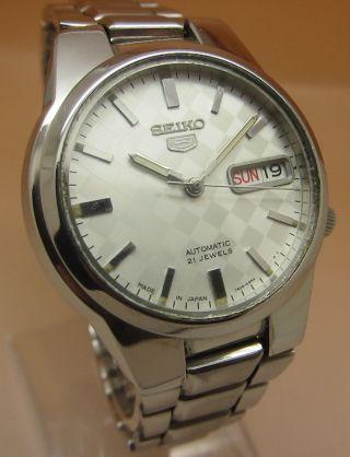 Seiko 5 Durchsichtig Automatik Uhr 7s26 - 03e0 21 Jewels Datum & Tag Bild