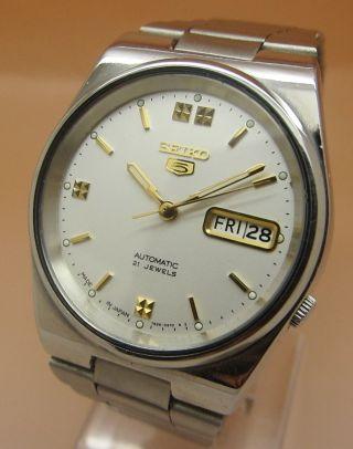 Seiko 5 Glasboden Automatik Uhr 7s26 - 0520 21 Jewels Datum & Tag Bild