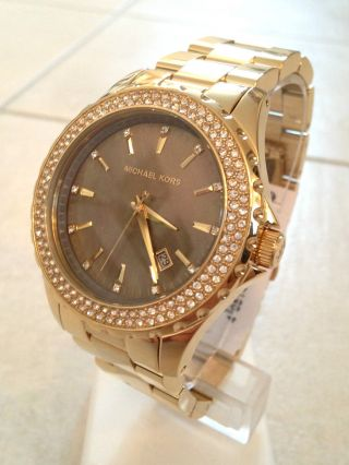 Michael Kors Mk5452 Damen - Uhr Gold Mit Zirkonia Box & Highlight Bild