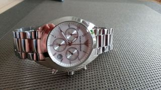 Armani Damenchronograph Ar5960 Damen Uhr Chrono Edelstahl,  Wie Neu&ovp Bild