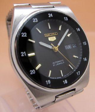 Seiko 5 Snkg23 Durchsichtig Automatik Uhr 7s26 - 02c0 21 Jewels Datum & Tag Bild