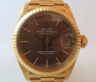 Rolex,  Datejust,  6917,  Gold 750,  Goldband Bild