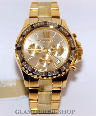 Michael Kors Mk5874 Uhr Damenuhr Everest Armbanduhr Edelstahl Gold Analog Bild
