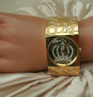 Harald GlÖÖckler ♛ Armbanduhr Gold Kristall Vergoldet PompÖÖs Uhr ♛ 137f Bild