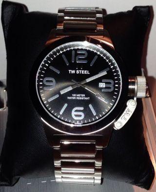 Tw Steel Mit Box Uhrenbox Geschenk Tw 300 Schicke Herrenuhr Damenuhr Np 299€ Bild