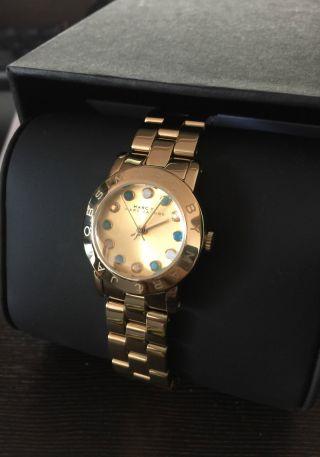 Marc By Marc Jacobs Gold Mbm3218 Damenarmbanduhr / Watch / Uhr Luxus Bild
