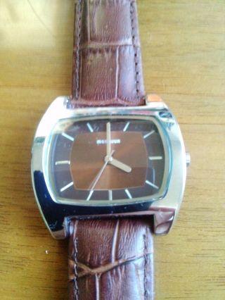 Manguun Uhr,  Armbanduhr Dau Hau - Braun,  Lederarmband Bild