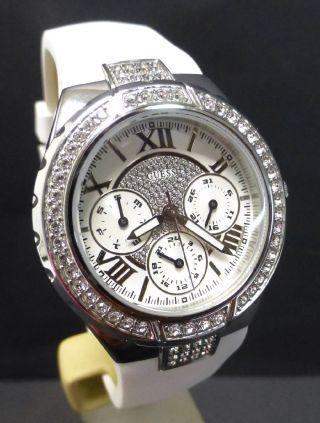 Damenuhr Guess Chronograph Viva Ladies Armbanduhr Uhr Silikonband Damen Chrono Bild