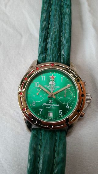 Poljot Russland Chronograph MilitÄr Handaufzug Cal.  3133 (5) Bild