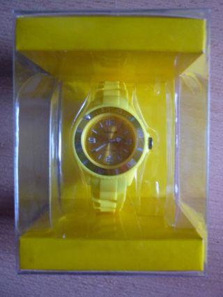 Ascot Colour Watch Mini Gelbe Uhr Aus Silikon Neu&ovp Bild