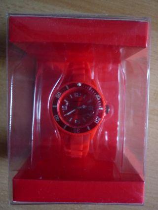 Ascot Colour Watch Mini Rote (kirschrot) Uhr Aus Silikon Neu&ovp Bild