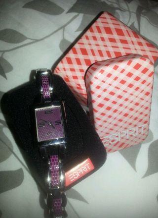 Tolle Armbanduhr Esprit Lila Violett Damenuhr Uhr In Originalbox♥edelstahl♥ Bild