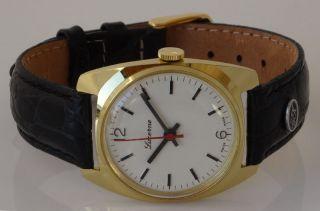 Kleine Swiss Made Uhr Lucerne Alte Ungetragene Sammleruhr Handaufzug,  Nos Lu - 44 Bild