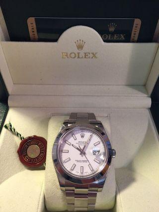 Rolex Datejust Ii.  Referenz: 116300.  Box,  Papieren Und 09/2014 Bild