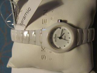 Skagen Damen Designs Ceramic Uhr Weiß Bild