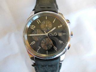 Dolce & Gabbana Sandpiper Uhr Lederarmband Analog Uhr D&g Armbanduhr Bild
