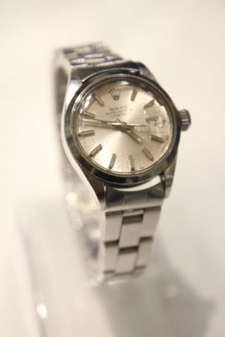 Rolex Oyster Perpetual Date Automatic Lady ' S / Damenuhr Stahl Ref 6519 Bild