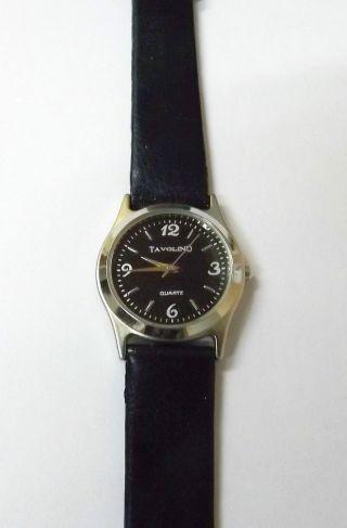 Tavolino Unisexuhr In Schwarz Gehäuse Silber Armbanduhr Bild