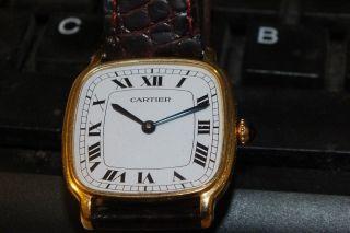 Cartier Damenuhr Gold Sehr Selten Bild